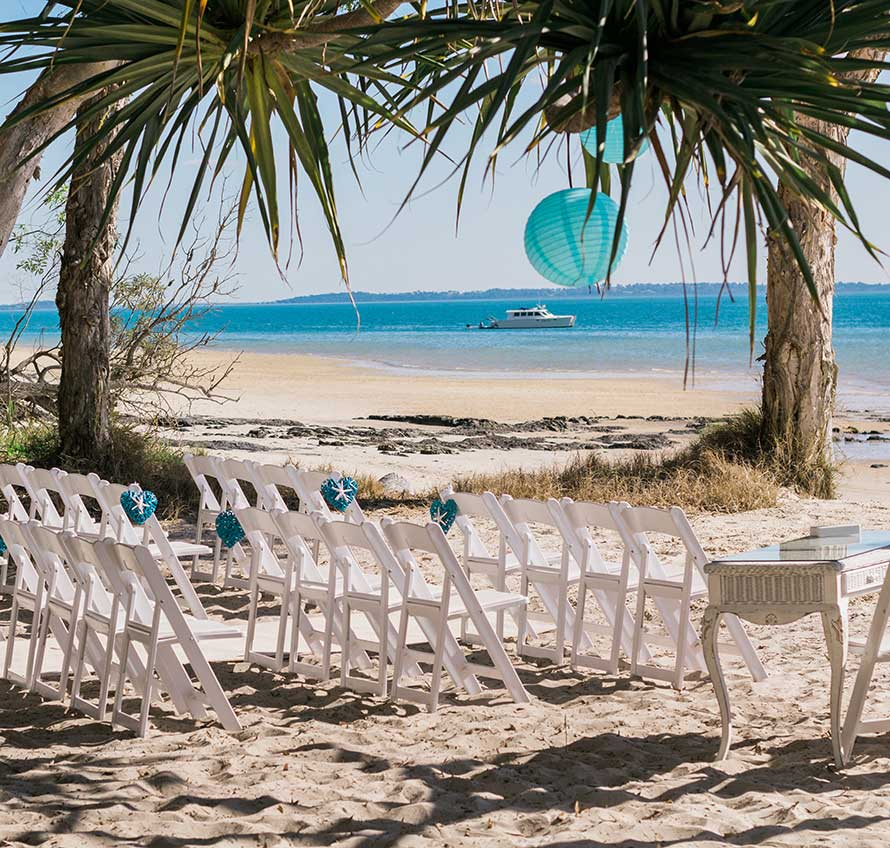 Island Beach Sunset: Fraser Island Weddings